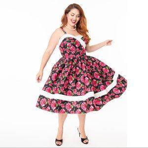 UNIQUE VINTAGE Darienne Floral Swing Dress